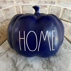 Rae Dunn HOME pumpkin (navy blue)